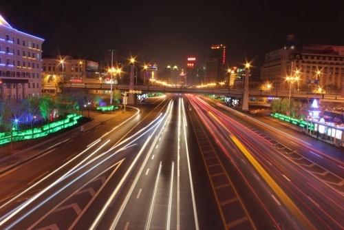 鹤岗火车站夜景图片