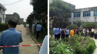 事件发生在扬州第二发电厂对面的一处生活区,一男子持刀劫持一名女子
