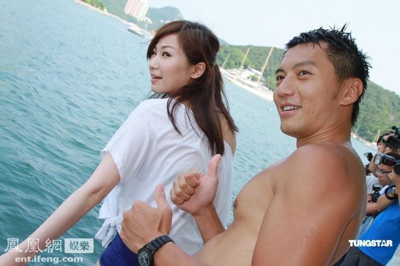 TVB新剧包游艇出海宣传 男女星激情戏水场面