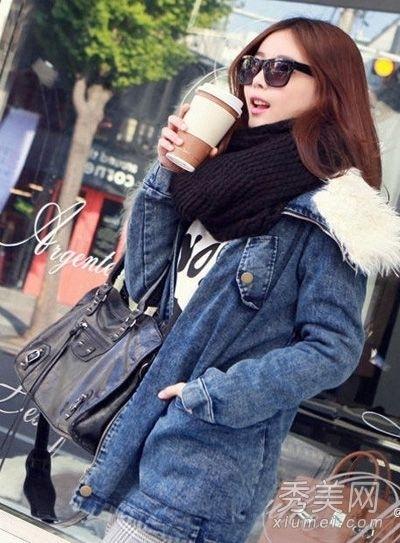 潮女示范冬装时尚搭配