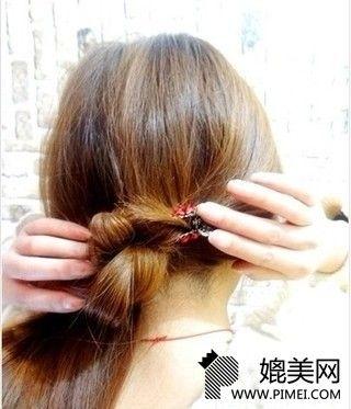 韩式简易瘦脸编发图解(2)