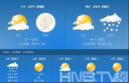 黑龙江发布寒潮蓝色预警