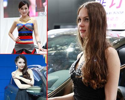 美女车模扮靓哈尔滨春季车展