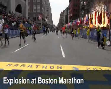 美国波士顿马拉松爆炸现场