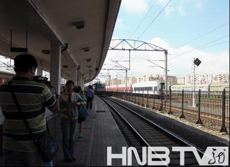 坐着火车游中国!海口直通哈尔滨首趟列车5日抵哈(图)