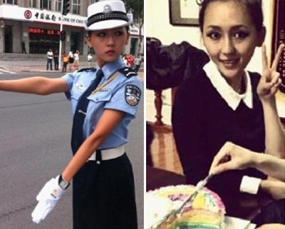 哈尔滨最美女交警:上岗时有人吹口哨