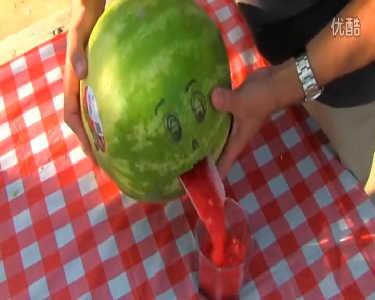 大神教你制作鲜榨西瓜汁