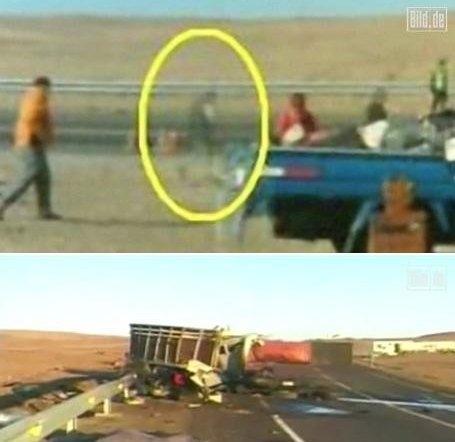 """智利司机称拍摄到车祸现场死者""""鬼魂""""高清图片"""