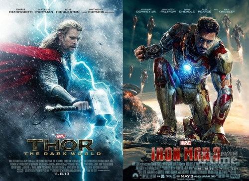 《雷神2》与《钢铁侠3》在2013年为迪士尼票房贡献了半壁江山。