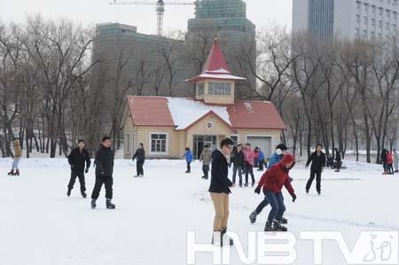 东北林业大学滑冰场正式投用免费开放
