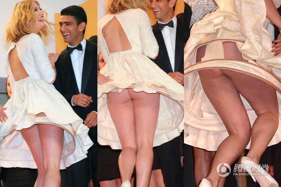 明星们已经将不穿内裤的风潮延续到了红毯和街头