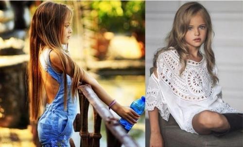 俄罗斯9岁绝美嫩模走红 网友:可以等你长大(图)