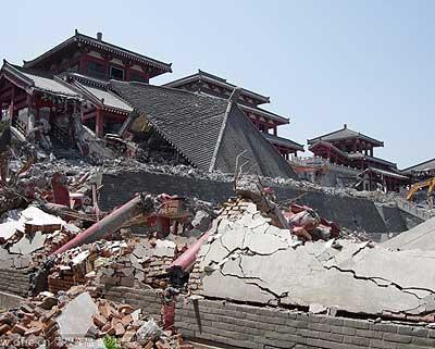 西安耗资2亿阿房宫因违建被拆(组图)