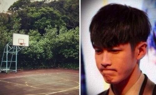 柯震东25日在instagram分享一张篮球场的照片