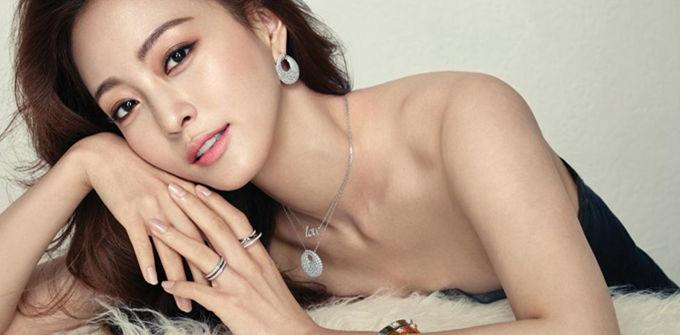 演员韩艺瑟拍珠宝写真 秀美肌妩媚诱人