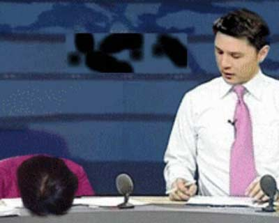 央视女主播文静打瞌睡照被PS