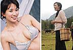 林志玲村妇装胸变平 女神难抵地心引力