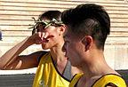 李小鹏娇妻挑战长跑3000米 边跑边哭