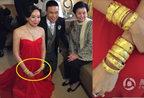 苏永康婚礼中式仪式 新娘手戴10个大金镯子
