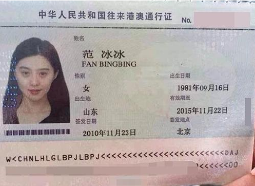 范冰冰最美照_范冰冰领衔中韩明星最美证件照