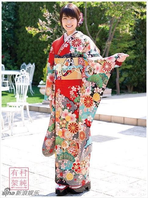 日本清纯女星有村架纯和服写真