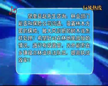 行风热线20150704