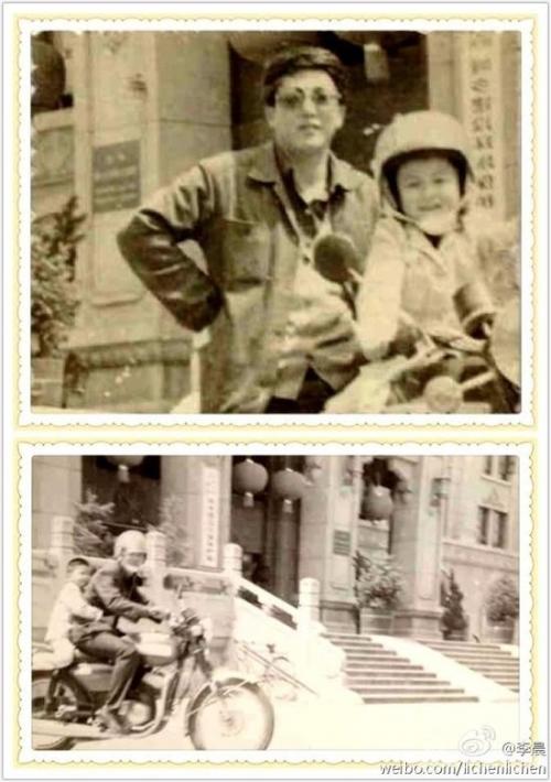 旧照�_李晨晒范冰冰骑摩托车旧照 获赞机车夫妇