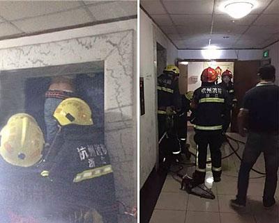女子使用电梯遇故障被夹 不治身亡
