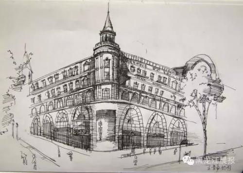 西安交大学生手绘哈尔滨 称建筑与人完美的融合(4)