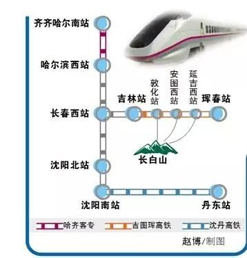 黑龙江省开行吉图珲两对高铁 哈尔滨西至延吉西只需4小时