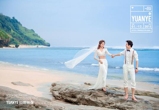 三亚婚纱摄影工作室哪家好原野映像创意拍摄外景婚纱照图片