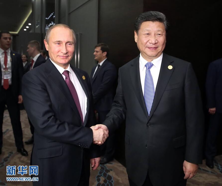 习近平会见俄罗斯总统普京(组图)