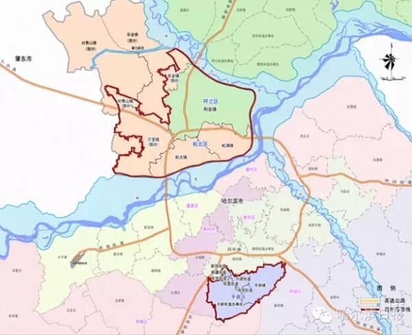 哈尔滨新区规划图