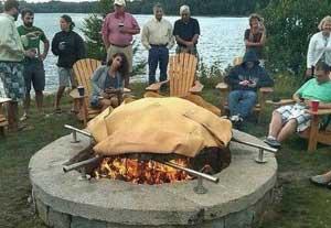 感受下外国人超霸气的户外烧烤,这个烧烤我服!