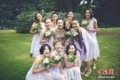 当地时间2015年8月8日,比利时布鲁塞尔,李小冉与老公徐佳宁秘密举行婚礼。应采儿、钟欣潼(阿娇)、朱丹组成靓丽伴娘团。图片来源:东方IC 版权作品 请勿转载