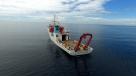 """8月14日,""""张謇""""号停泊在新不列颠海沟西部海域作业。新华社记者 张建松 摄"""