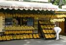 意大利那不勒斯专卖橘子的摊子