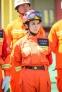 刘嘉玲身着消防制服