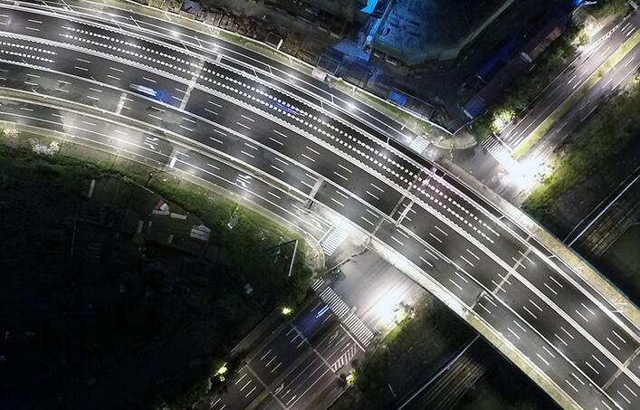 上海:嘉闵高架北段全线通车 航拍通车实景