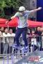 来自北京的李顺获得了滑板道具技巧项目的冠军
