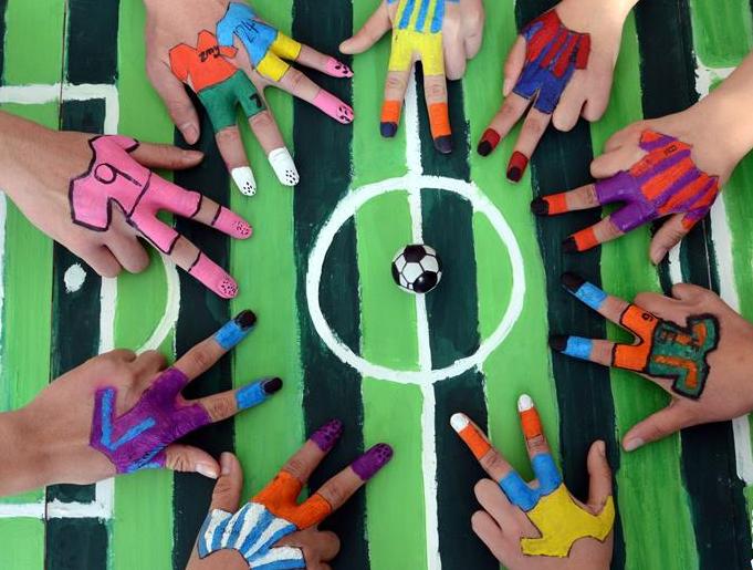 有趣的手指足球赛