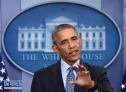 1月18日,美国总统奥巴马在华盛顿白宫出席记者会时讲话。 美国总统奥巴马18日在白宫举行其任期内最后一场记者会。 新华社记者殷博古摄