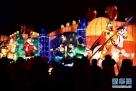 """2月8日,游客在济南趵突泉公园内欣赏花灯。  临近正月十五元宵节,以""""凤舞吉年,春满泉城""""为主题的山东济南第38届趵突泉迎春花灯会吸引众多游人前往观看。  新华社记者郭绪雷摄"""