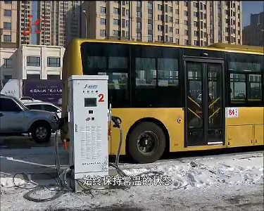 首批纯电动公交车冰城亮相