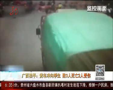 桂平:货车冲向学生致3人死亡2人受伤