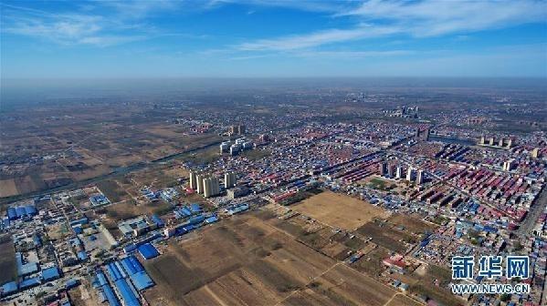 俯瞰河北省雄县县城