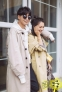 笑容还是那么甜!高圆圆开春街拍浪漫似少女