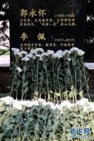 人们在郭永怀和李佩先生合葬仪式上献花。
