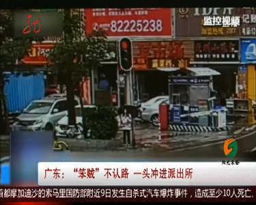 """广东""""笨贼""""不认路 一头冲进派出所"""