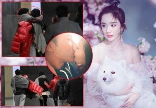 有网友称拍到刘恺威杨幂当街热吻